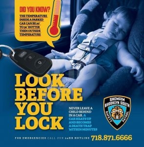 """Shomrim reminds you to always """"Look Before You Lock"""""""