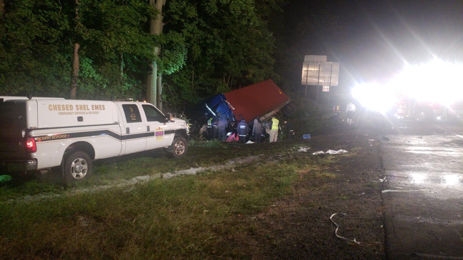 Violent accident on the NYS Thruway leaves two car occupants dead.