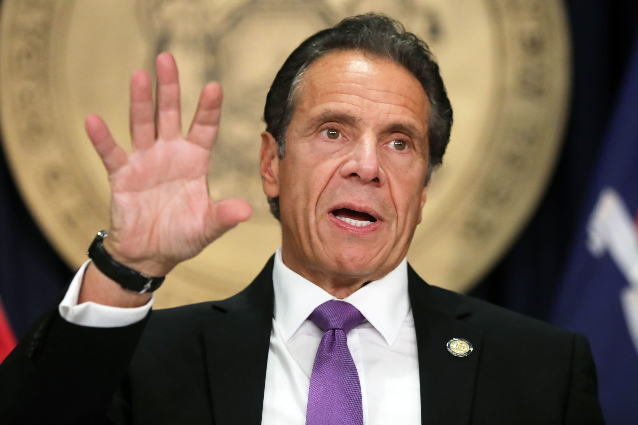 Listen to Gov Cuomo's response when asked about the Satmar wedding a few weeks ago