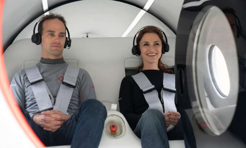 Hyperloop Tests First Ever Passenger Ride Featuring Two Bosses