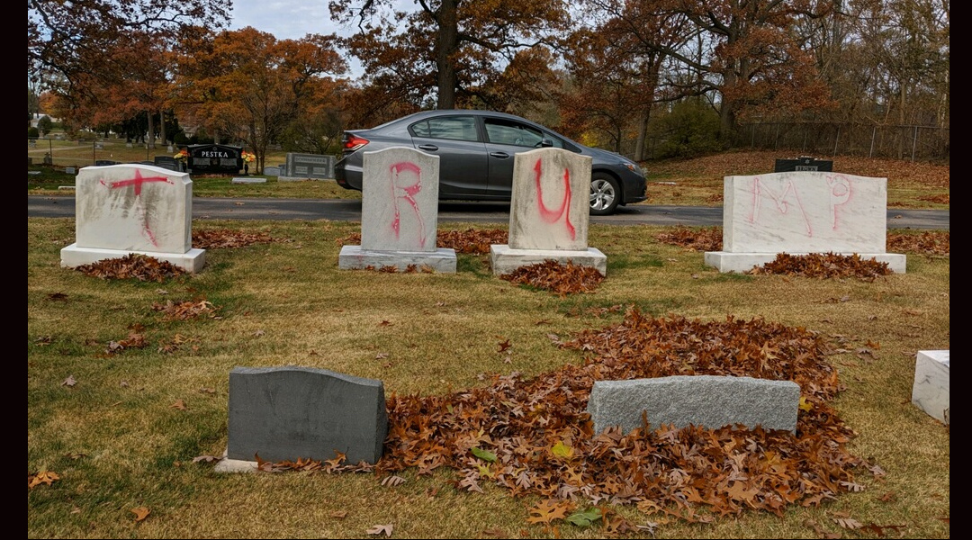 Jewish Gravestones in Michigan Vandalised With Pro-Trump Slogans