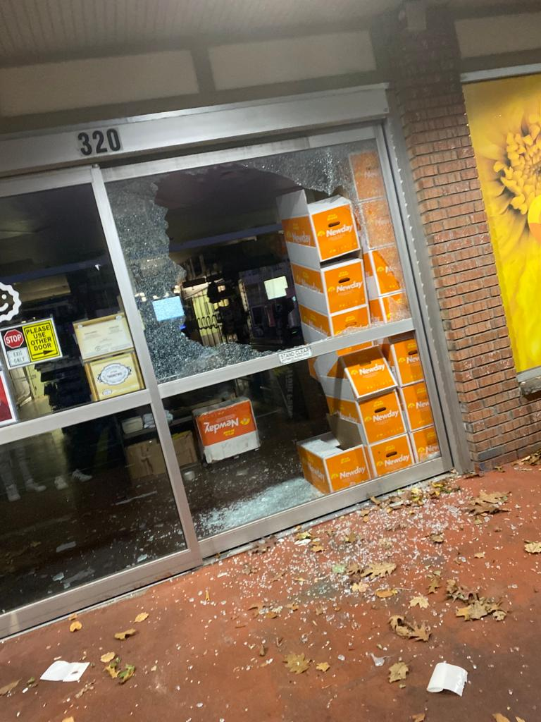 Store windows shattered by BB Guns in South Monsey