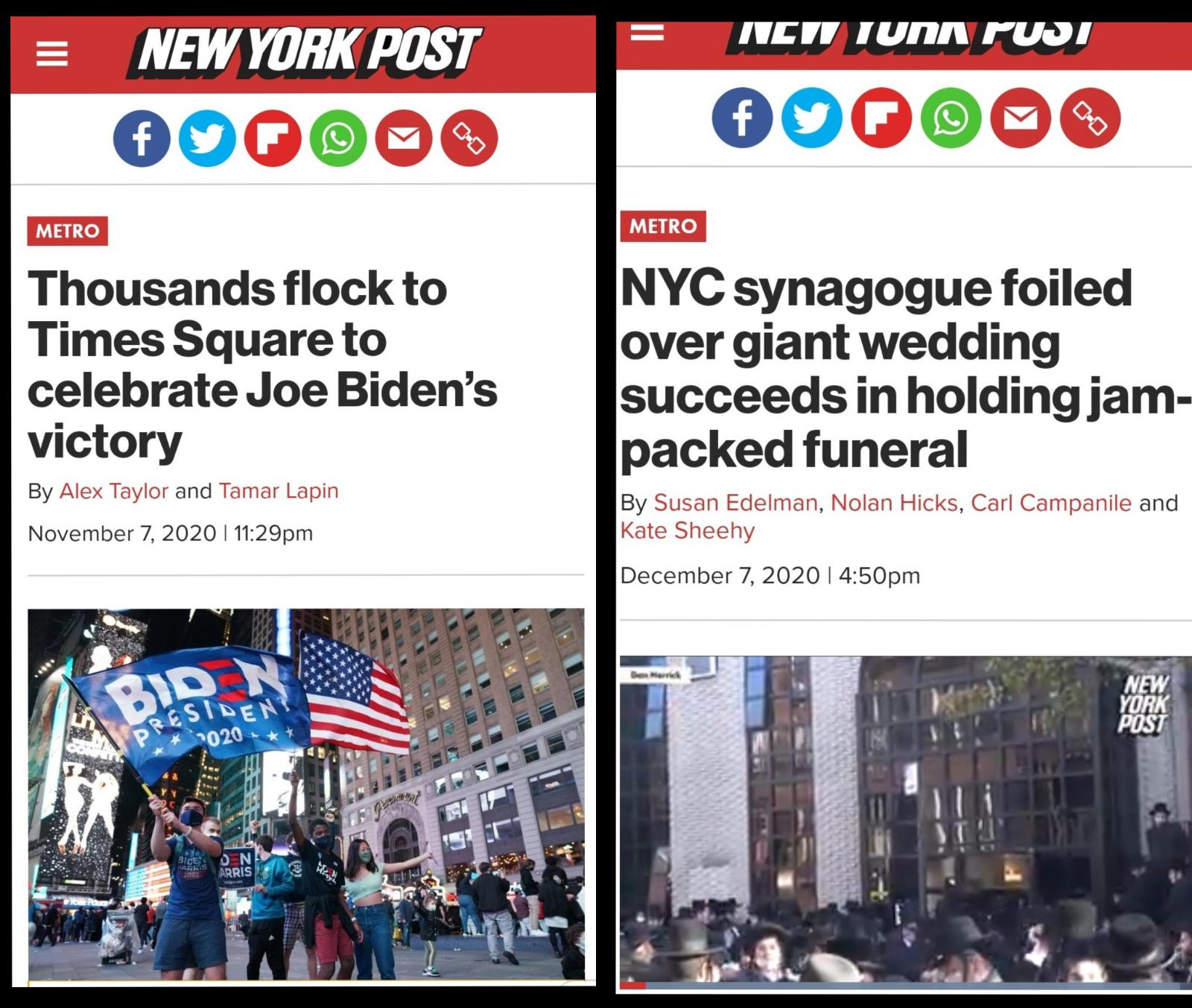 NY Post Continues Publishing Hateful Articles Towards Orthodox Jews In Dazzling Double-Standard.