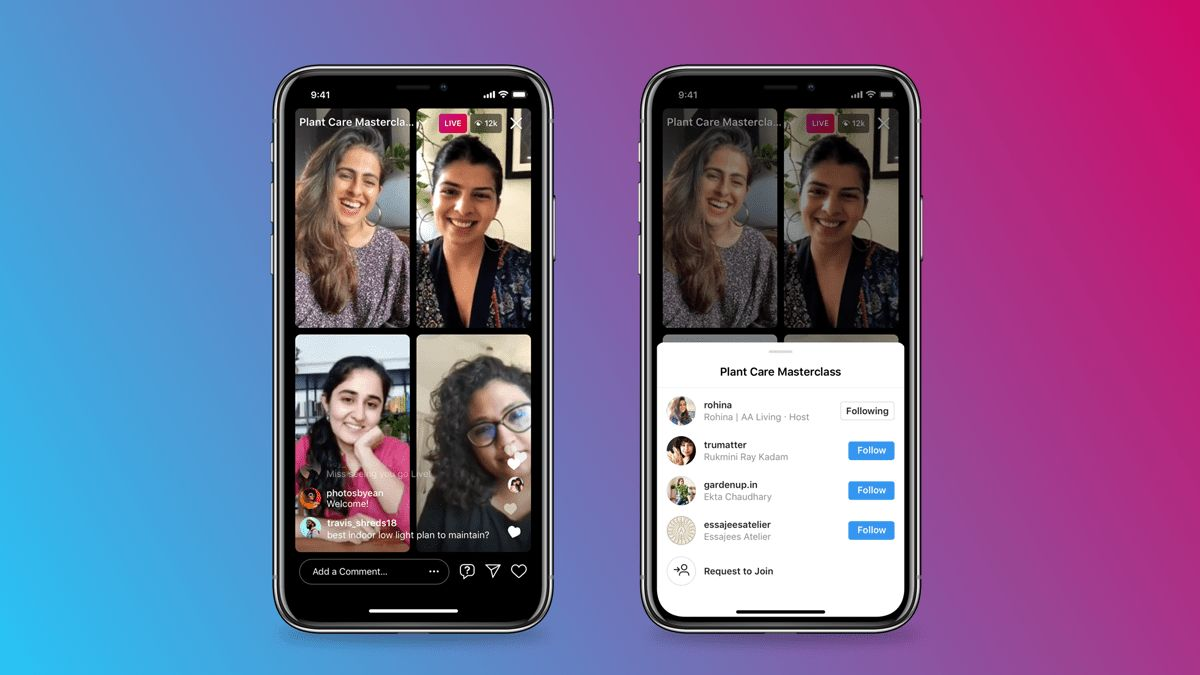 Instagram Extends Live Rooms Group Streaming Upto 4 Users