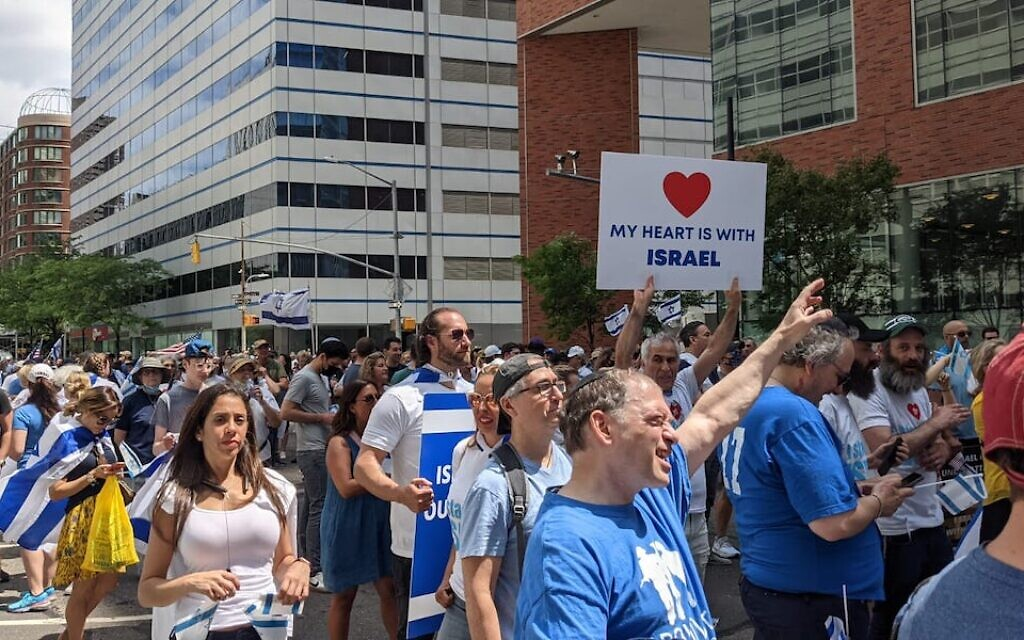 Pro-Israeli Rally in NYC Held To Condemn The Recent Spike In Antimeitic Incidents