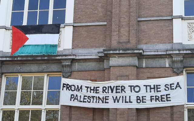 Dutch University Takes Down Pro-Palestine Banner After Backlash