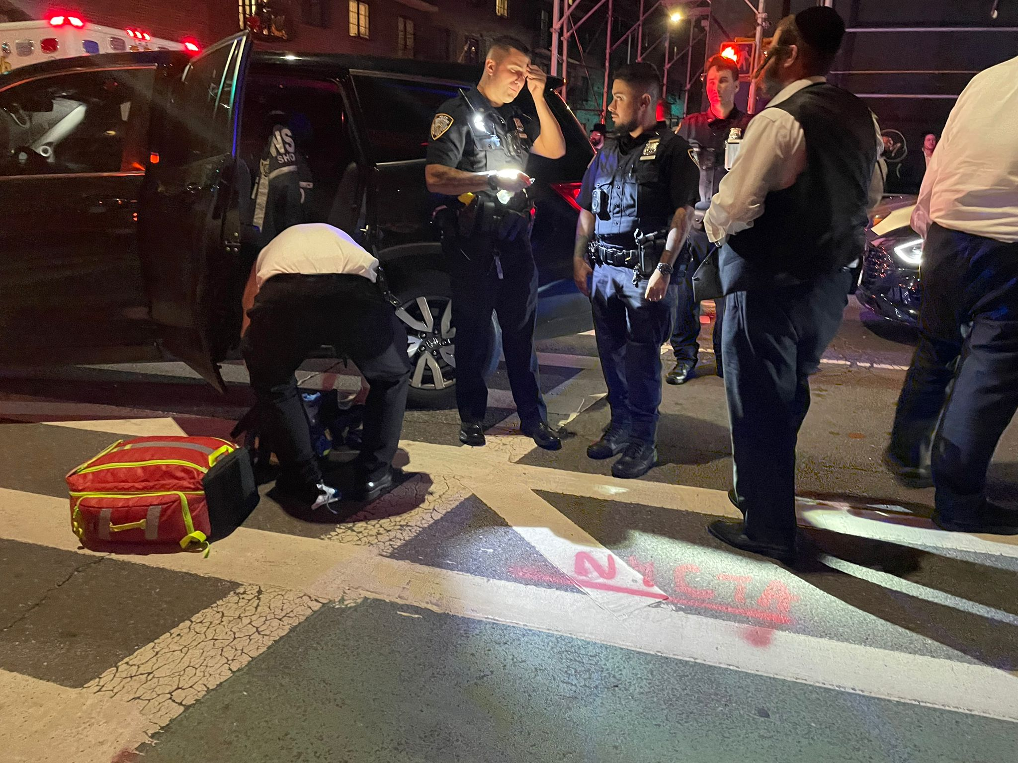 DRAMA IN WILLIAMSBURG: 2 civilians, 1 police officer injured in a paint ball shooting attack.