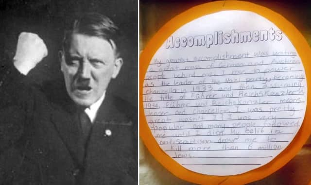 Fifth Grader's Biographical Project On Hitler Shocks New Jersey Community