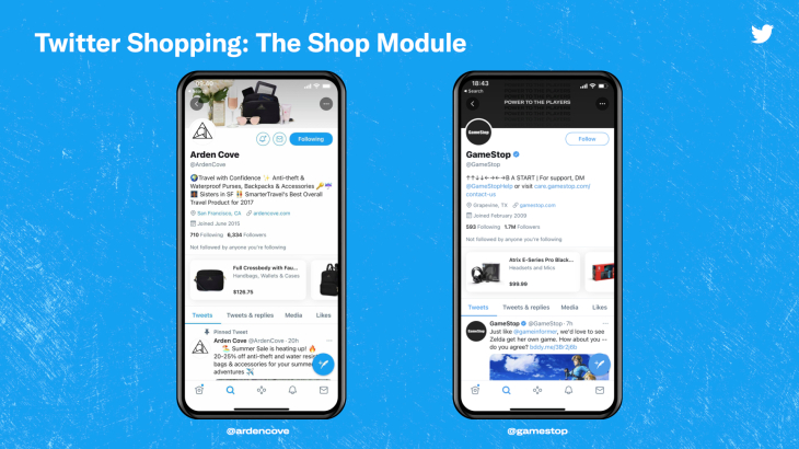 """Twitter Launches """"Shop Module"""" Pilot For Users To Buy Products Directly From The App"""