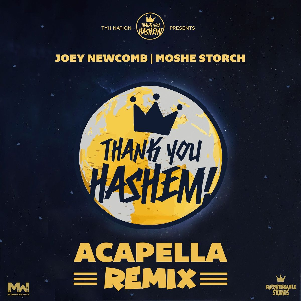 """TYH Nation Presents: Joey Newcomb & Moshe Storch With A New Acapella Remix On """"Thank You Hashem"""""""