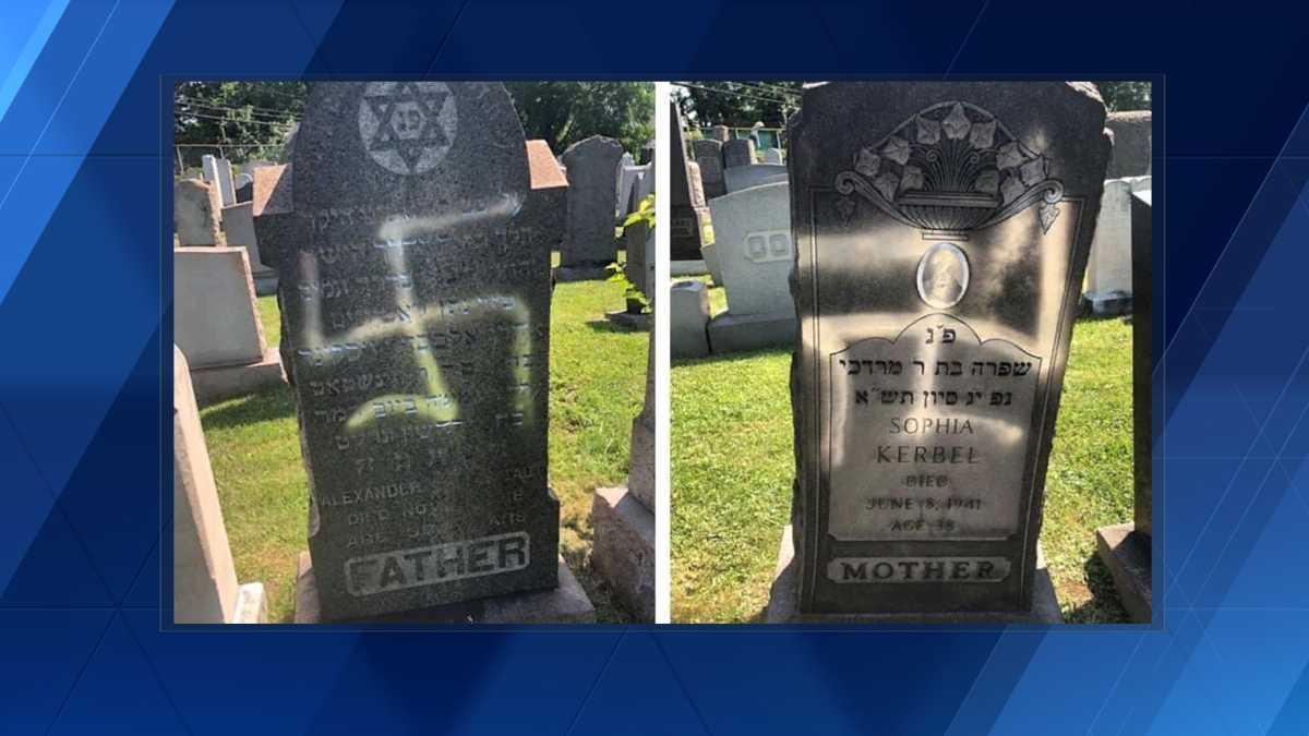 Dozen Jewish Gravestones Left Vandalized With Swastikas At Baltimore Cemetary