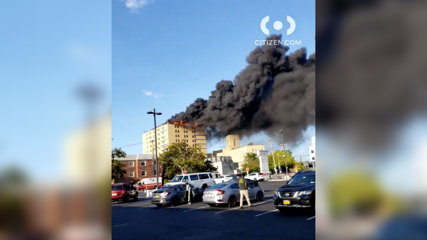 No injuries were reported in the Queens hospital fire